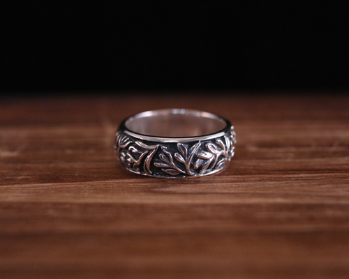 "All Nature Ring ""Floral"" -SILVER"