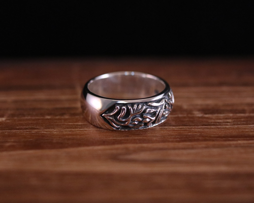 """All Nature Ring """"Floral"""" -SILVER"""