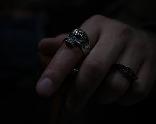 "Daddy's ""D3"" Skull Ring -SILVER"