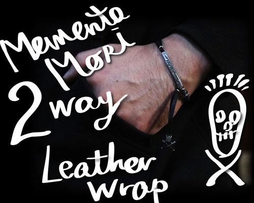 """""""MEMENTO MORI"""" 2way LeatherWrap -SILVER"""