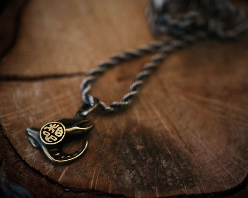 """Imagination"" Necklace -BRASS"