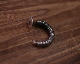 Bent Wood Screw Hoop -SILVER