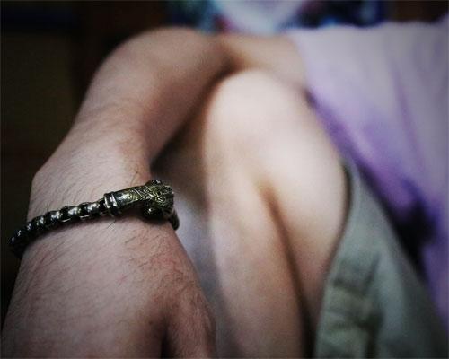 """Caballo""Bracelet -Round link"