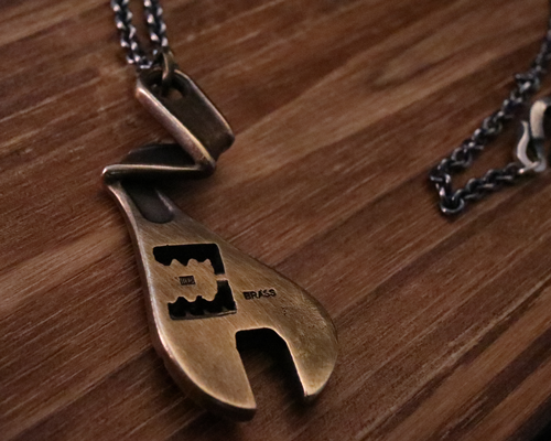 Thunder Bolt Necklace -BRASS