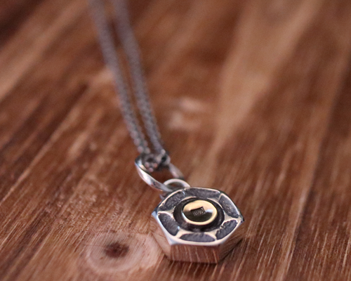 Lock Nut Necklace -SILVER base
