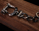 """Daddy's""""Shackle""""K/C -SILVER"""
