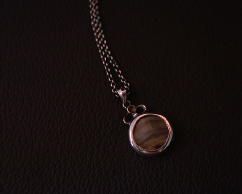 Two Face Third Eye necklace