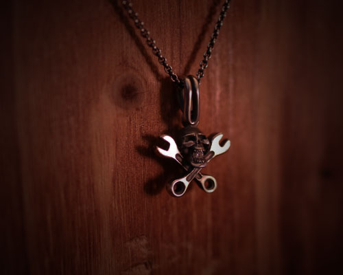 CraftHolicSkull Necklace-Stone Set