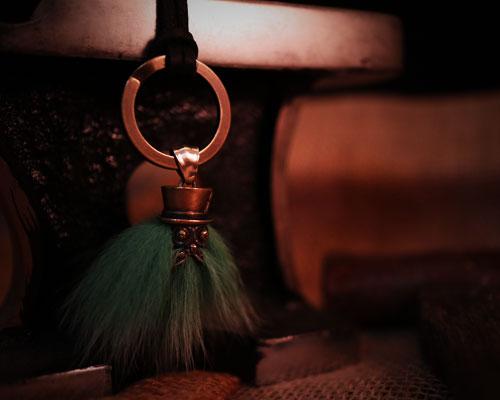 Beardman Keyholder -GREEN