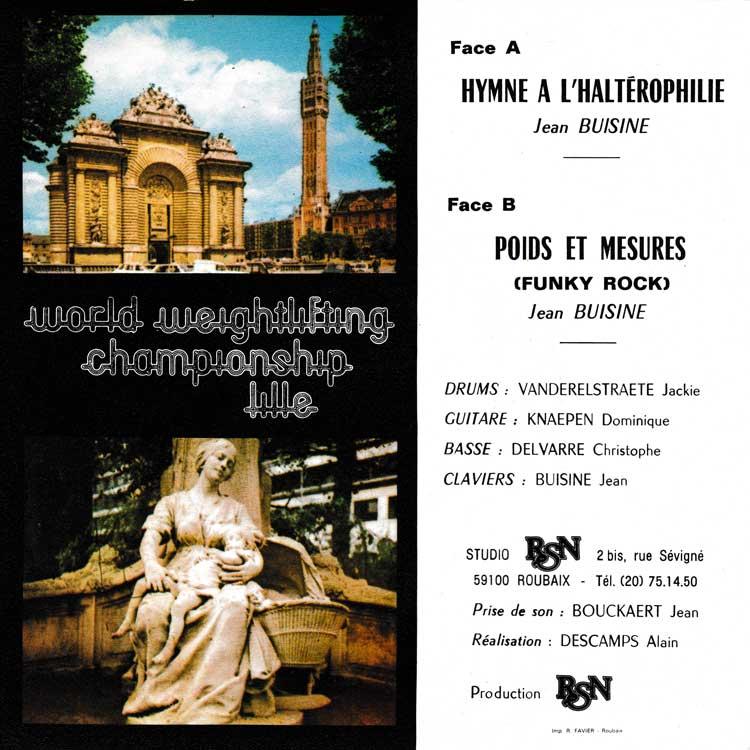 "Jean Buisine - Championnats Du Monde D'Halterophilie [Lille. 1981. France] (World Weightlifting Championship Lille) (Used 7"")"