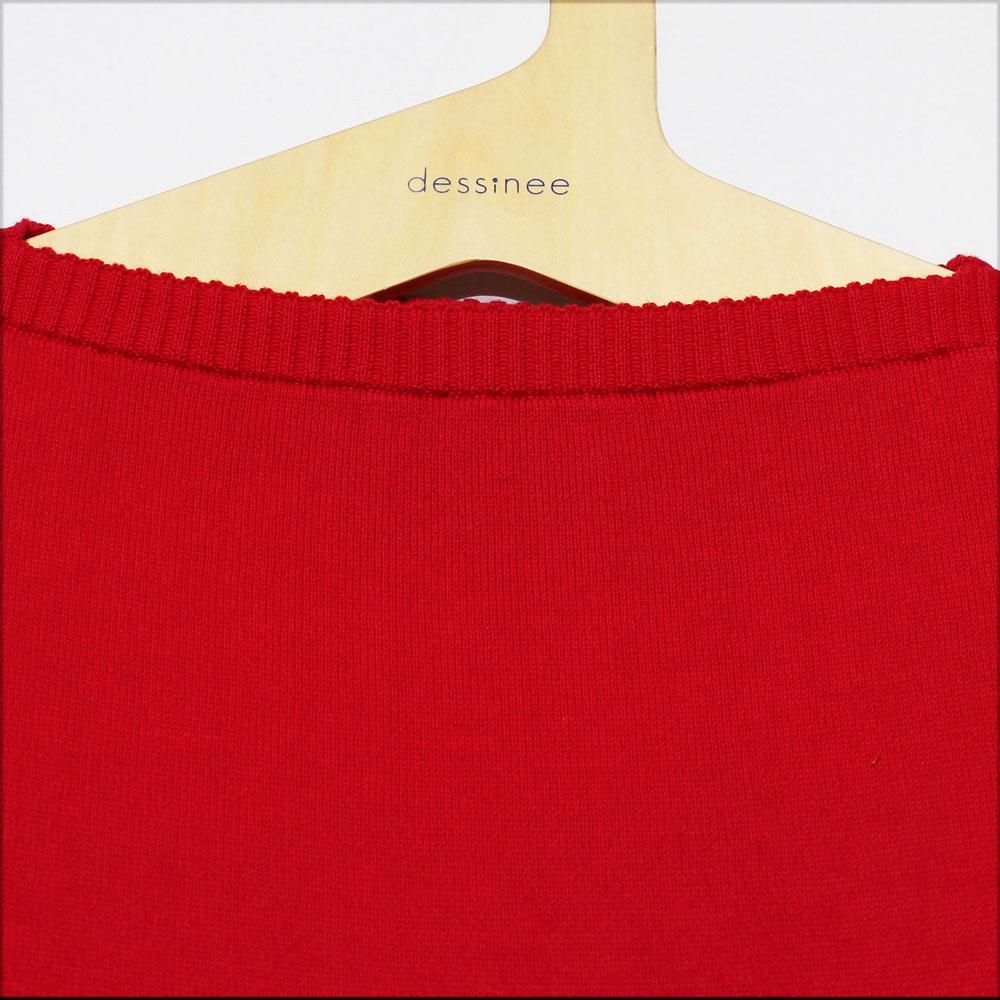 FILEUSE D'ARVOR (フィルーズ・ダルボー) - Cotton Tristan (長袖ニット) (Rouge)