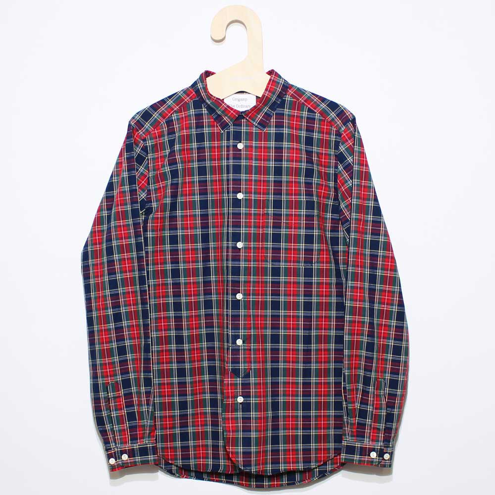 Gingamp (ギンガム) - Ordinary Shirts Gingamp (長袖BDシャツ) (Red Tartan)