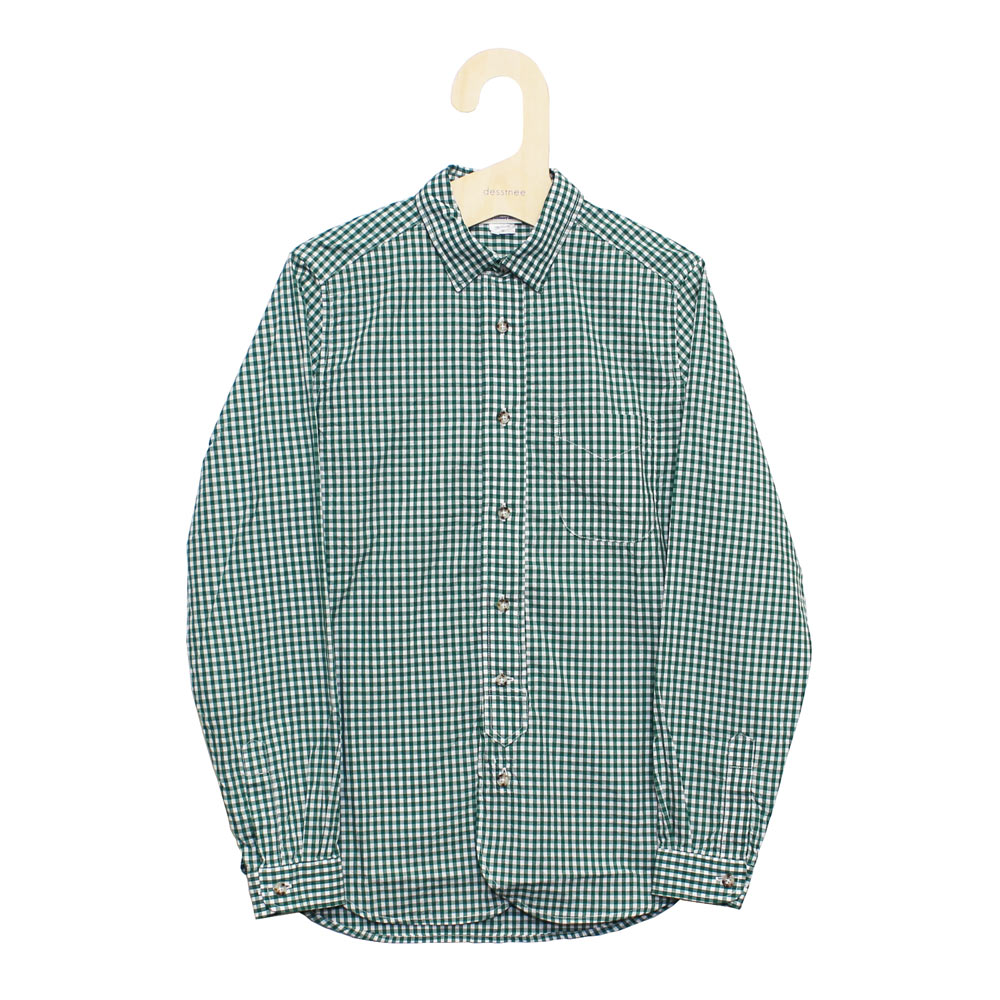 Gingamp (ギンガム) - Ordinary Shirts Gingamp (長袖BDシャツ) (Green-M)