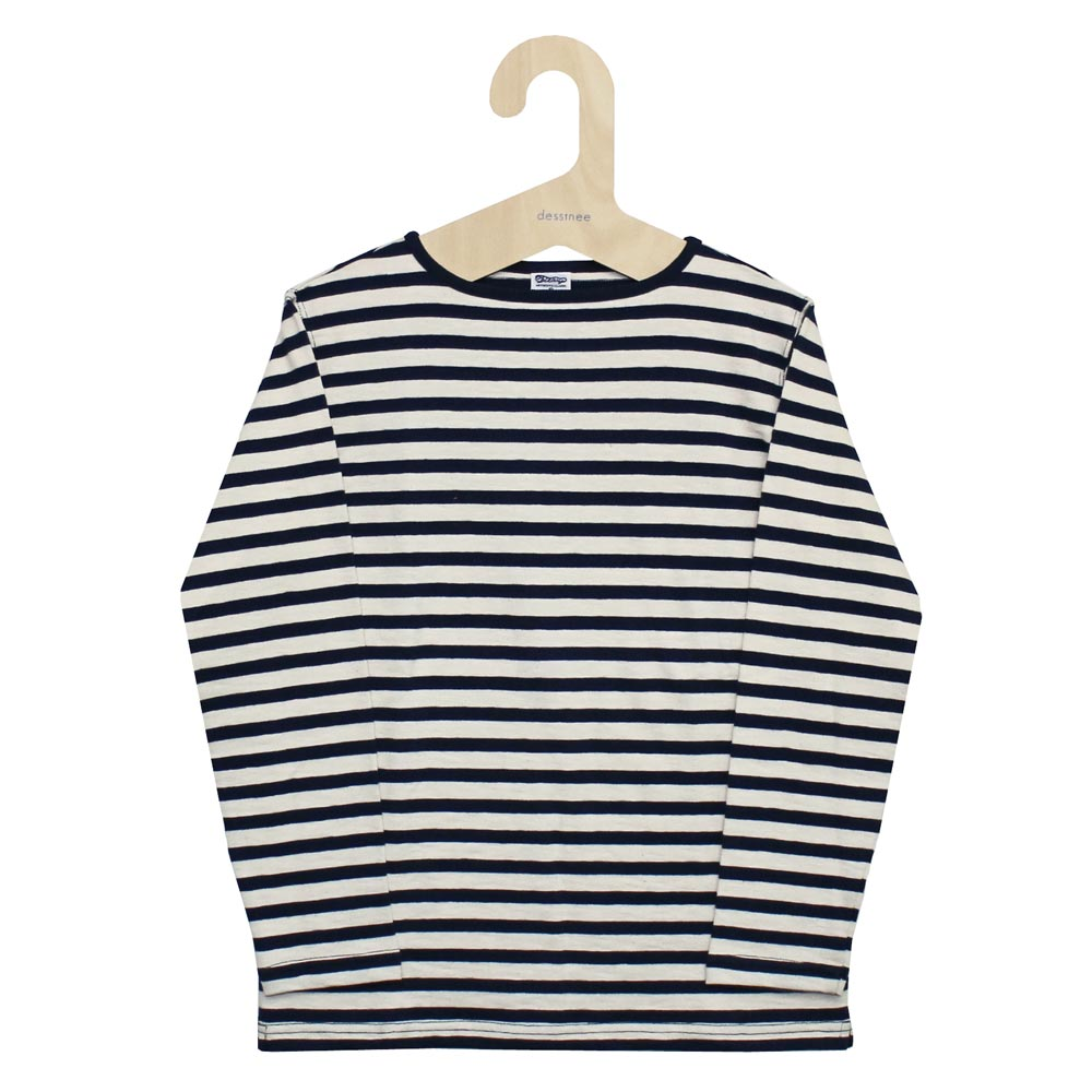Tieasy AUTHENTIC CLASSIC (ティージー) - HDCS Boatneck Boader Basque Shirt (バスクシャツ) (Navy/Boader)