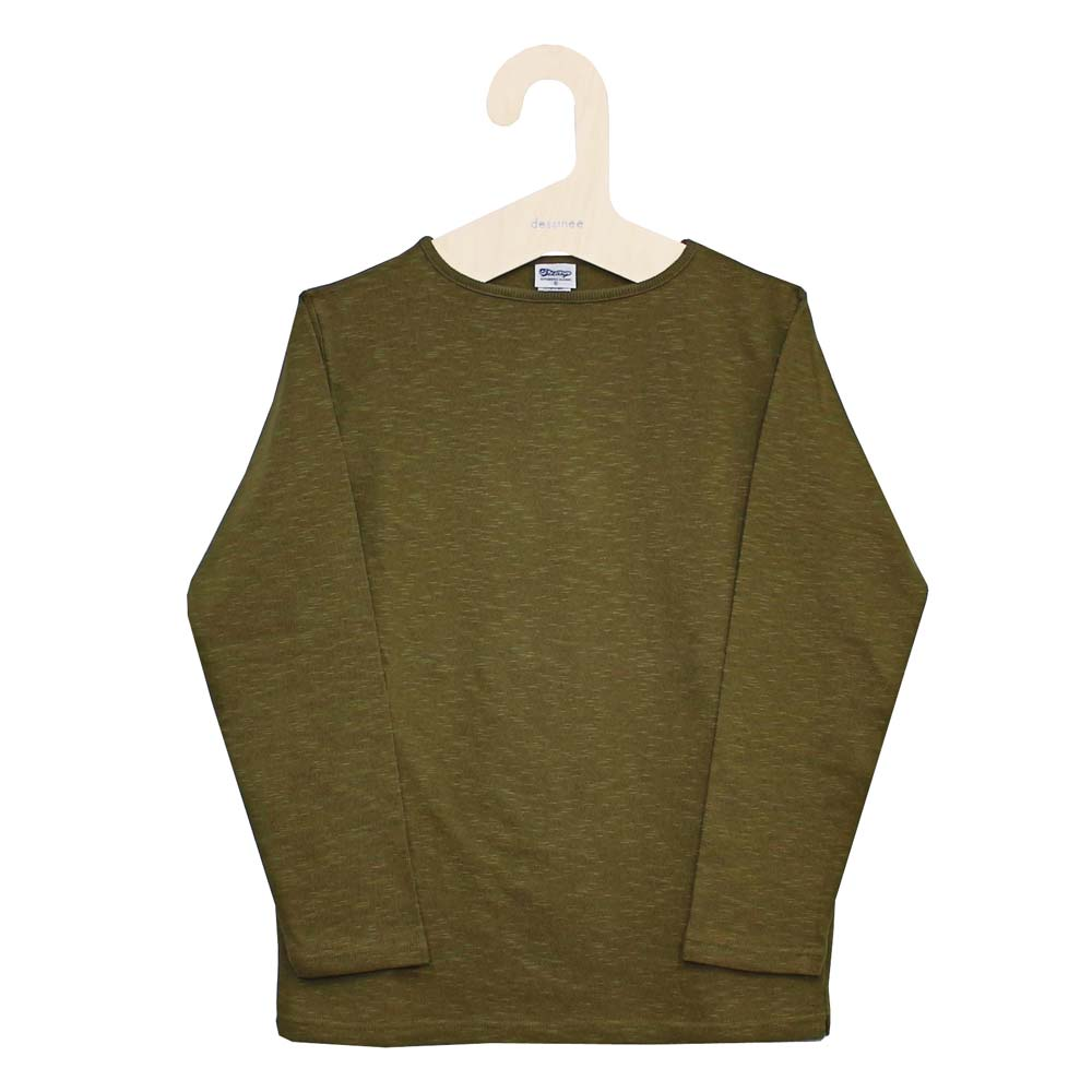 Tieasy AUTHENTIC CLASSIC (ティージー) - HDCS Boatneck Basque Shirt (バスクシャツ) (Rakuda-Brown)