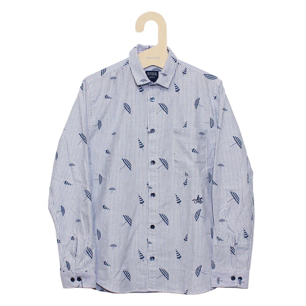 Monsieur Lacenaire (ムッシュー・ラスネール) - Shirt L/S (長袖シャツ) (Blue Umbrella)