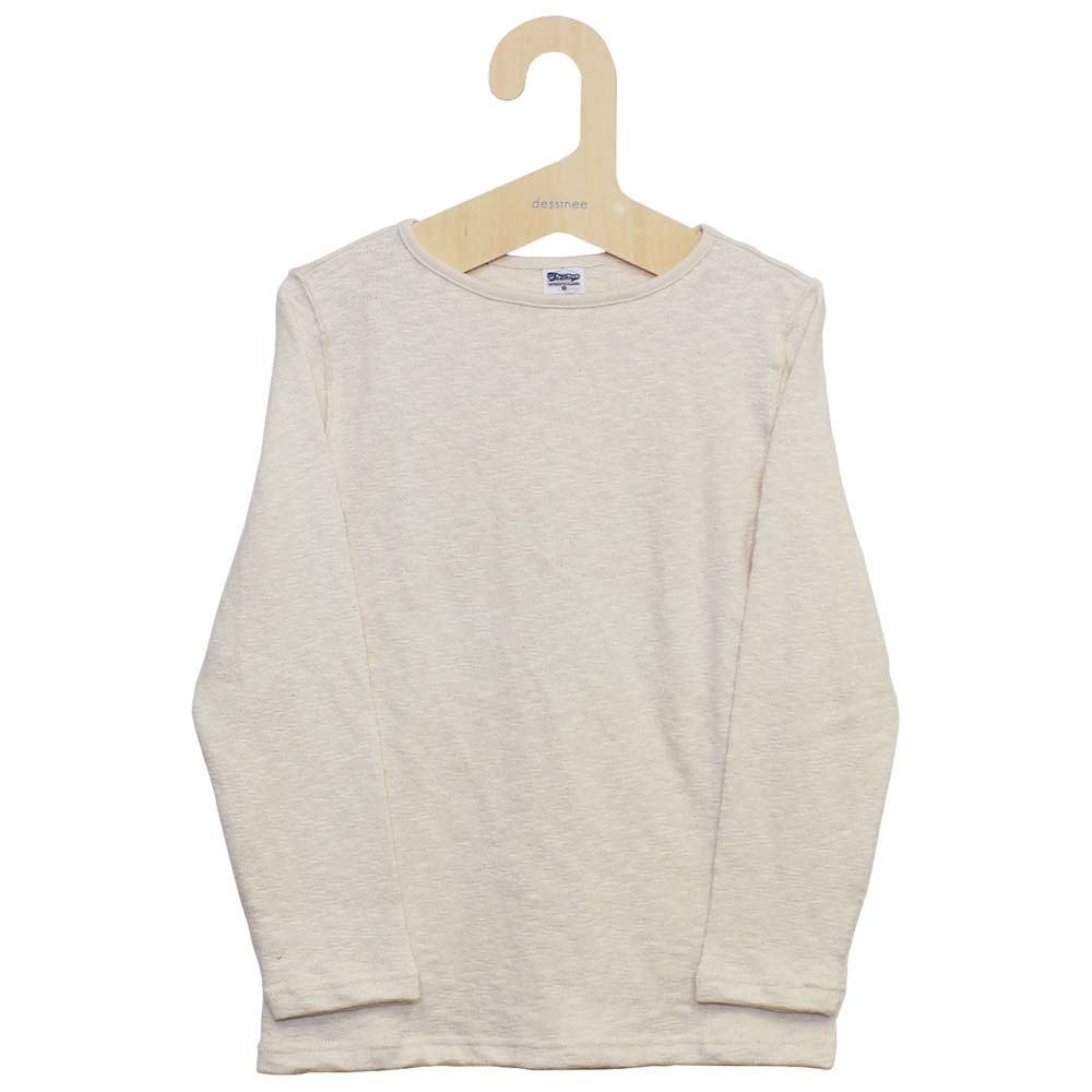 Tieasy AUTHENTIC CLASSIC (ティージー) - Tieasy Original Boatneck Shirt (ボートネック・バスクシャツ) (Natural)