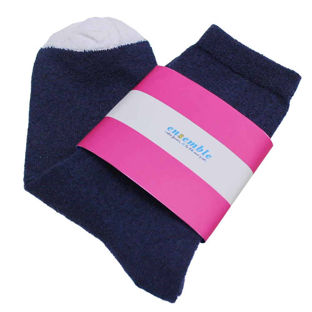 ensemble dessinee (アンサンブル・デシネ) - Towel Touch Regular Socks Wms (ソックス) (Navy)