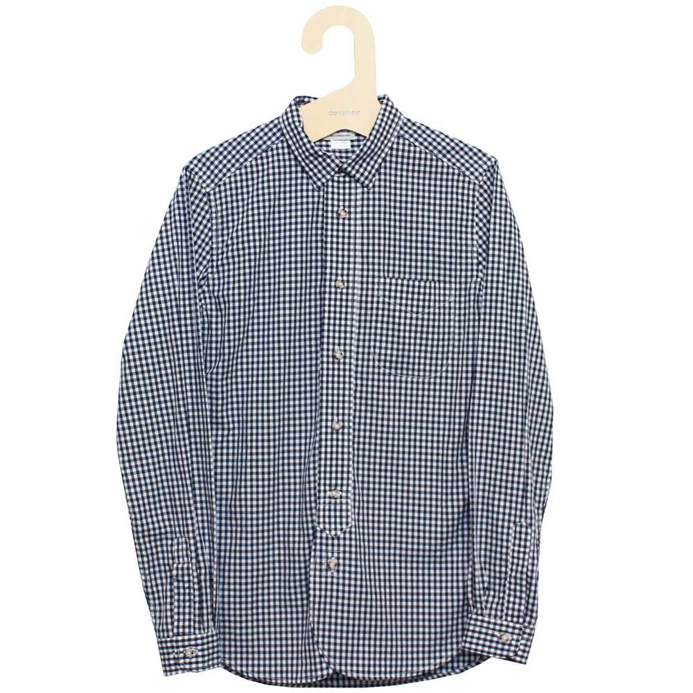 Gingamp (ギンガム) - Ordinary Shirts Gingamp (長袖BDシャツ) (Dk Navy-M)