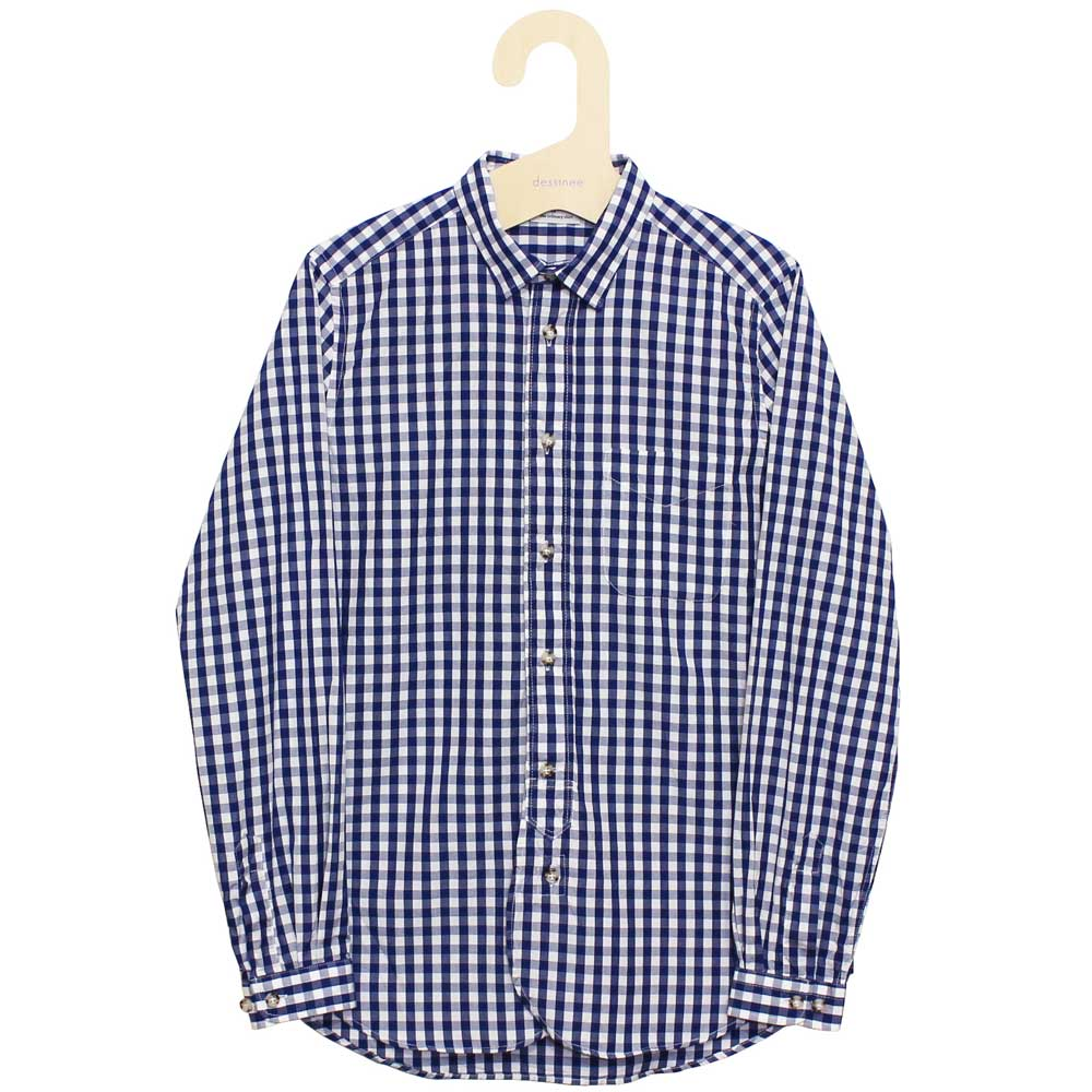 Gingamp (ギンガム) - Ordinary Shirts Gingamp (長袖BDシャツ) (Navy)