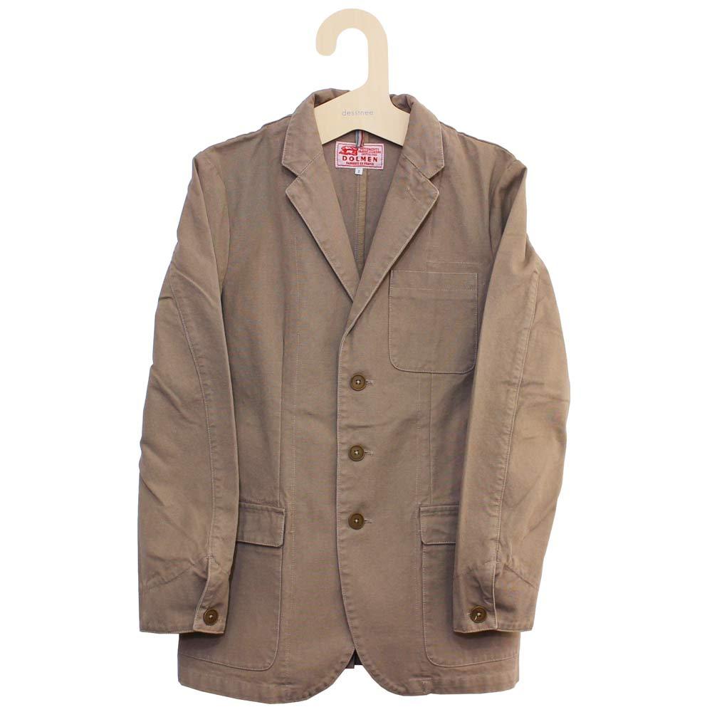 Dolmen (ドルメン) - Work Tailored Jacket (ワークジャケット) (Beige)