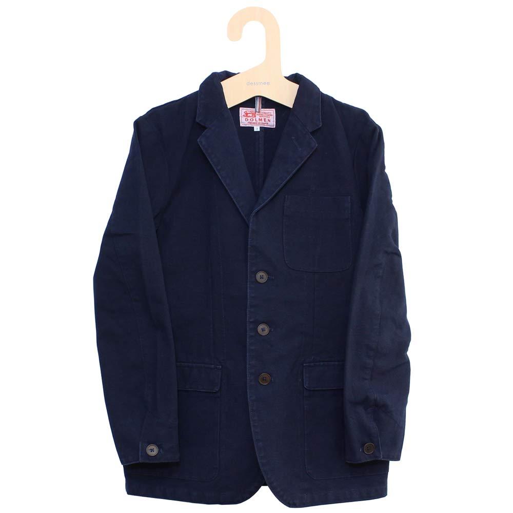 Dolmen (ドルメン) - Work Tailored Jacket (ワークジャケット) (Navy)