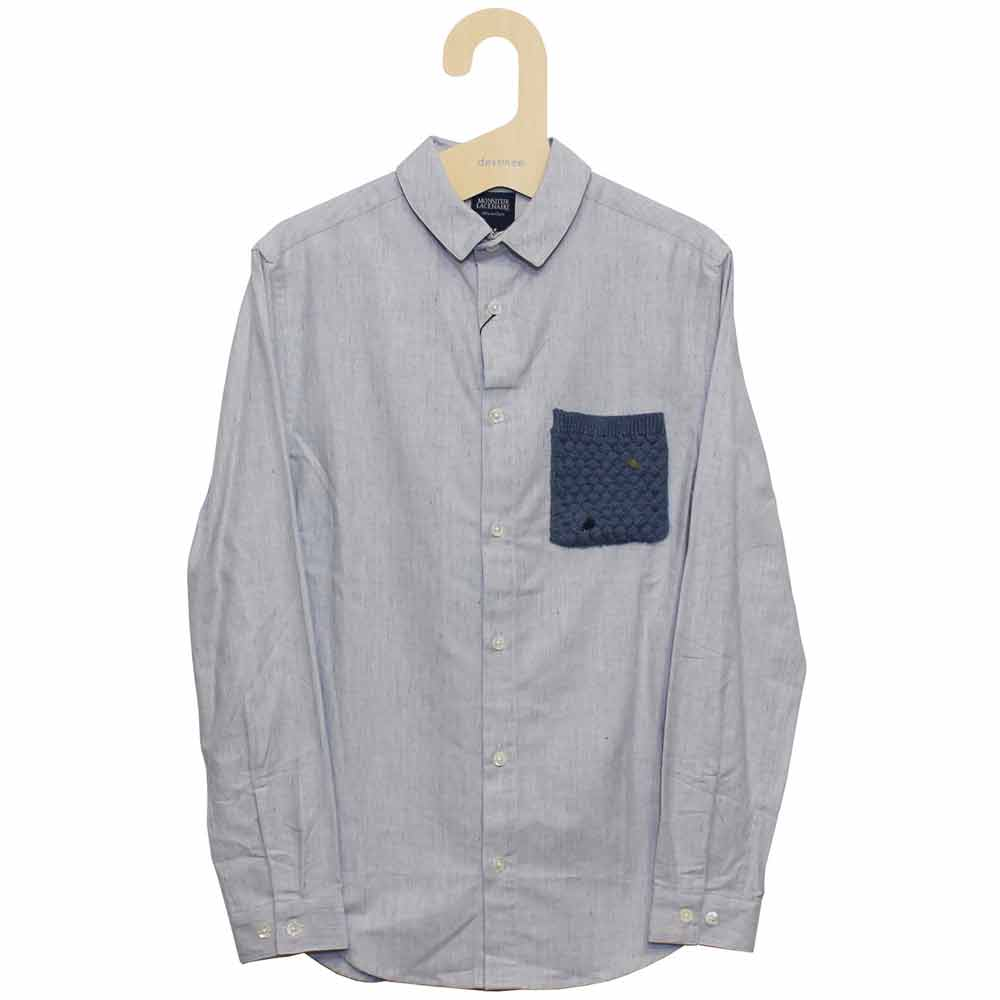Monsieur Lacenaire (ムッシュー・ラスネール) - Shirt with Knitted Pocket Chambray (長袖シャツ) (Jean)