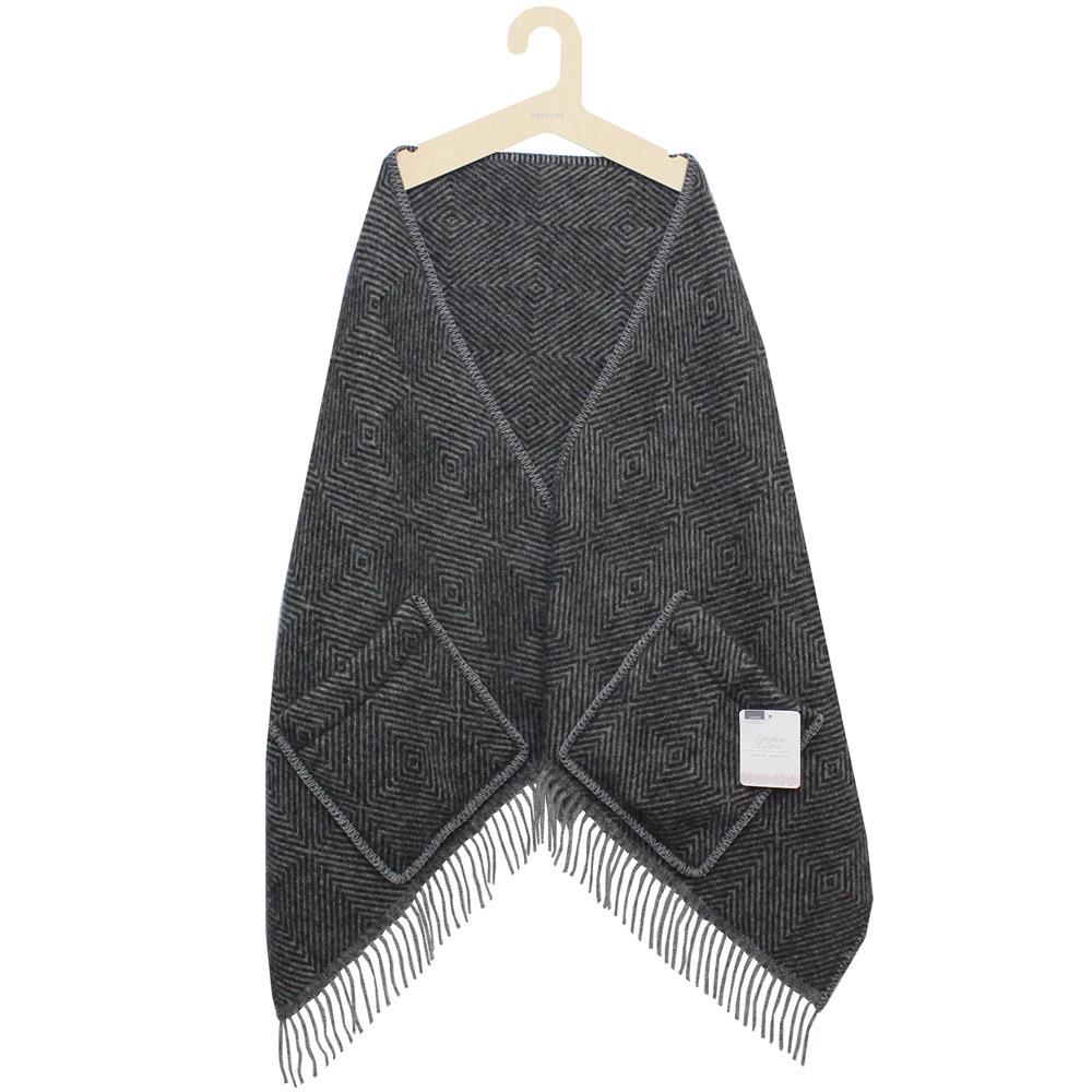 Lapuan Kankurit (ラプアン・カンクリ) - MARIA / Pocket Shawl (ショール) (Black/Grey)