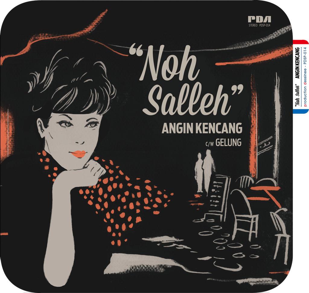 """Noh Salleh (ノ・サリ) - Angin Kencang c/w Gelung (強い風 / 螺旋) (New 7"""")"""