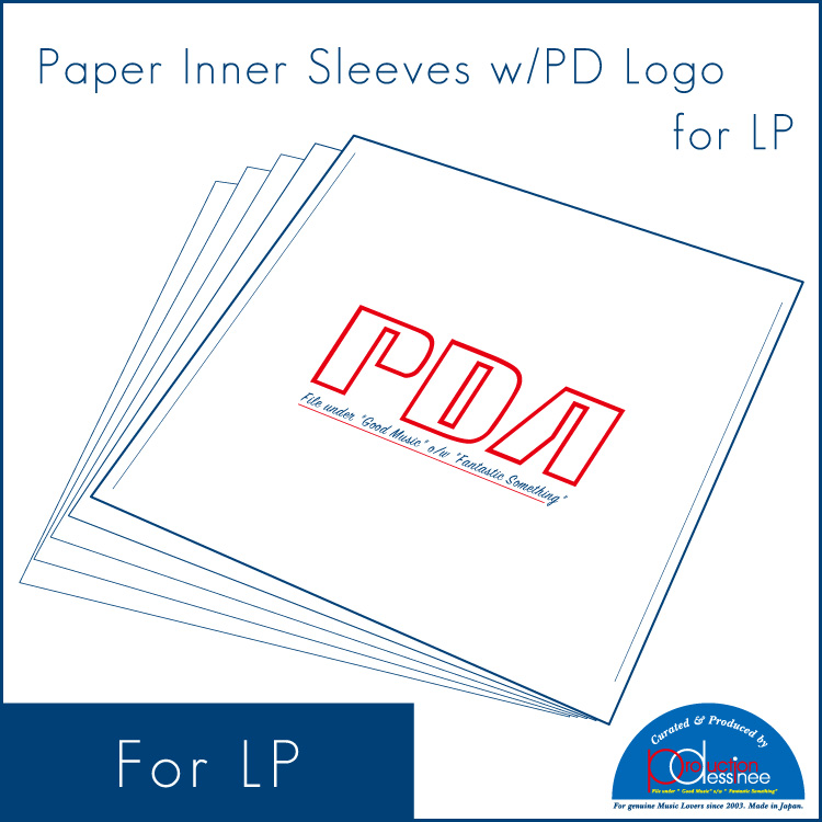 production dessinee (プロダクション・デシネ) - Paper Inner Sleeves w/Logo for LP (25pcs) (LP用紙製内袋/PDAロゴ入り 25枚セット) (Accesary)