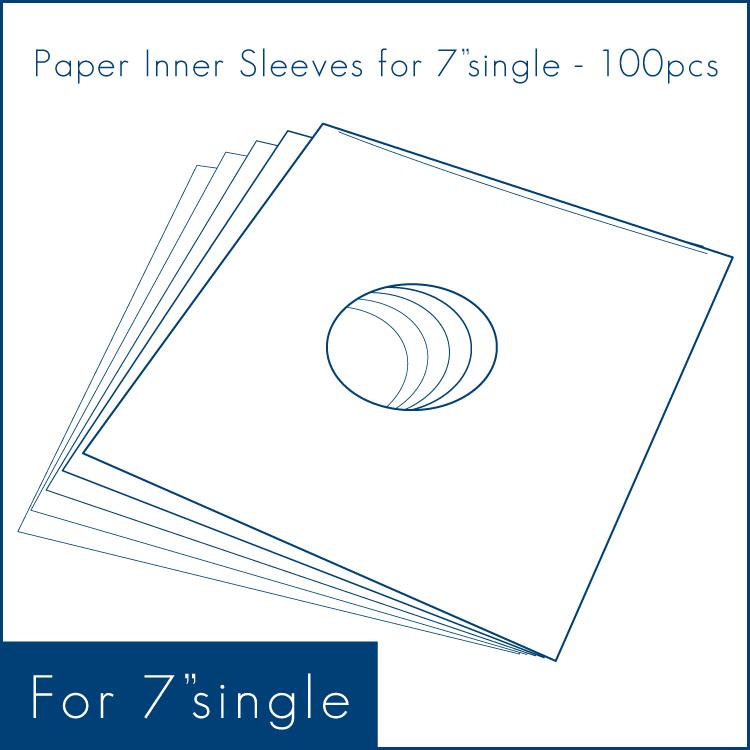 "Paper Inner Sleeves for 7"" (100pcs) - 7""シングル用/紙製内袋 (100枚セット) (Accesary)"