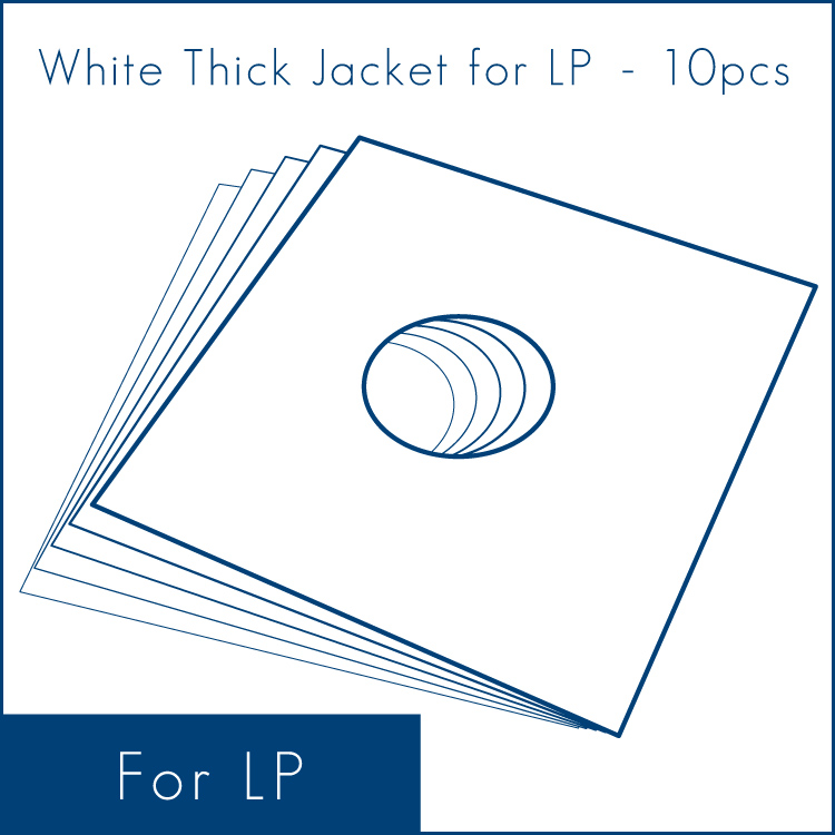 ◇ White Thick Jacket for LP (10/50pcs) - LP用ジャケット/厚紙 (10/50枚セット) (Accesary)