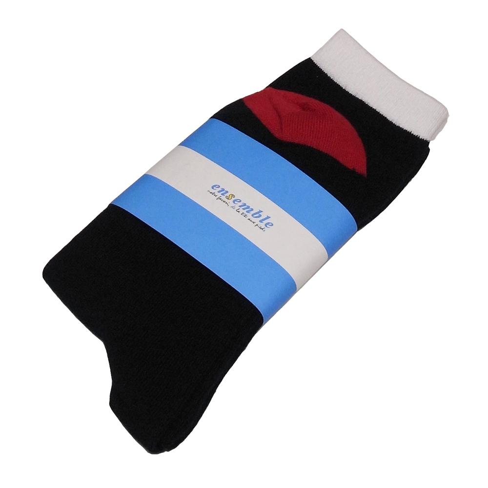 ensemble dessinee (アンサンブル・デシネ) - Regular Socks (ソックス) (Navy/W/R/Point)