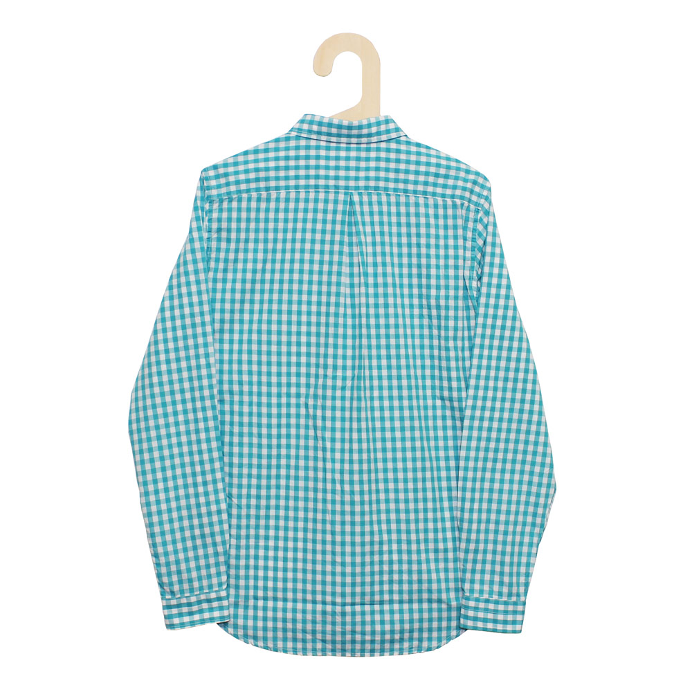 Gingamp (ギンガム) - Ordinary Shirts Gingamp (長袖BDシャツ) (Turquise-L)
