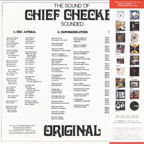 Sound of Chief Checker (チーフ・チェッカー) - Sounded Original (サウンディッド・オリジナル) (New LP)
