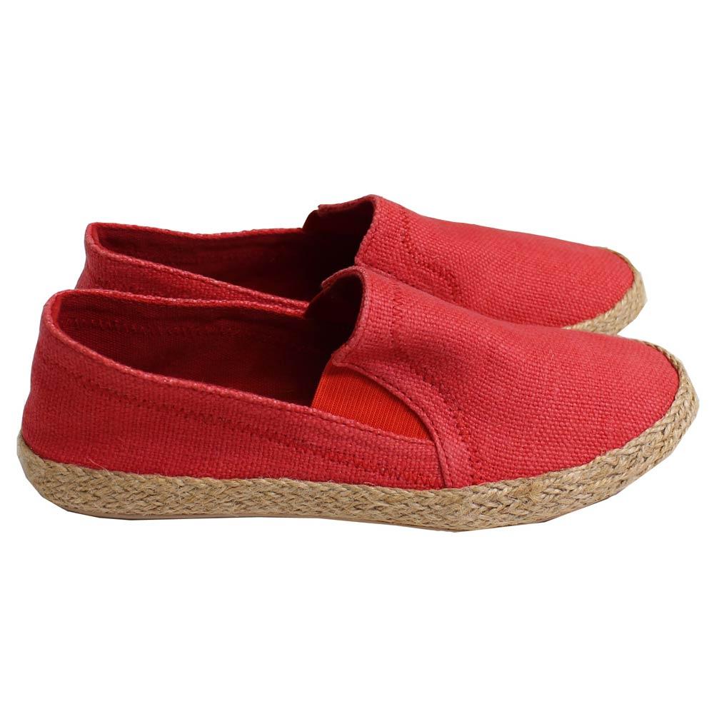 William Fox & Sons (ウィリアム・フォックス・アンド・サンズ) - Jennys Jute Shoes (スリッポン) (Red)
