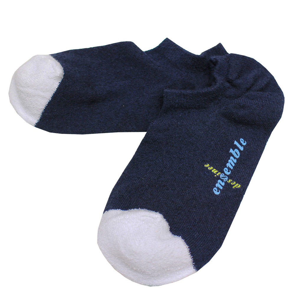 ensemble dessinee (アンサンブル・デシネ) - Towel Touch Short Socks Wms (ソックス) (Navy)