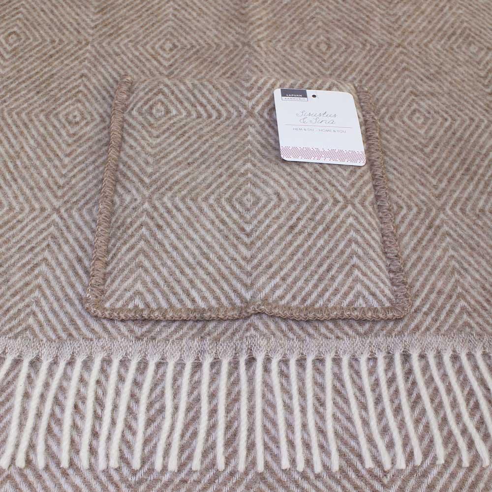 Lapuan Kankurit (ラプアン・カンクリ) - MARIA / Pocket Shawl (ショール) (Brown/White)