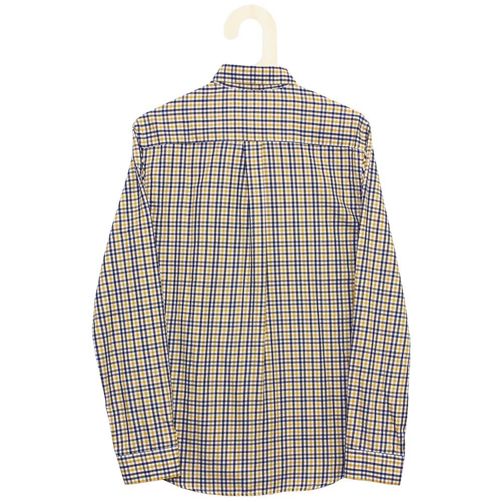 Monsieur Lacenaire (ムッシュー・ラスネール) - Oscar Check Flannel (長袖シャツ) (Mustard)