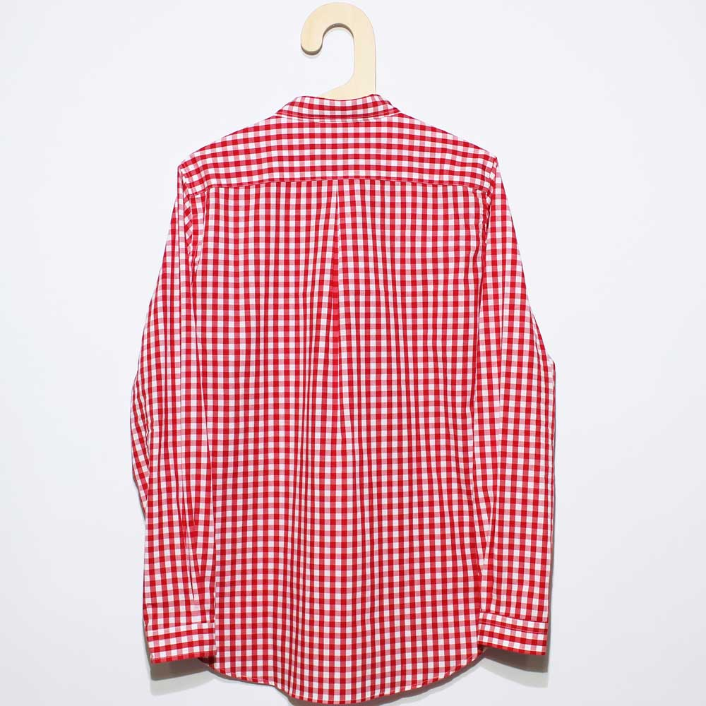 Gingamp (ギンガム) - Ordinary Shirts Gingamp (長袖BDシャツ) (Red)