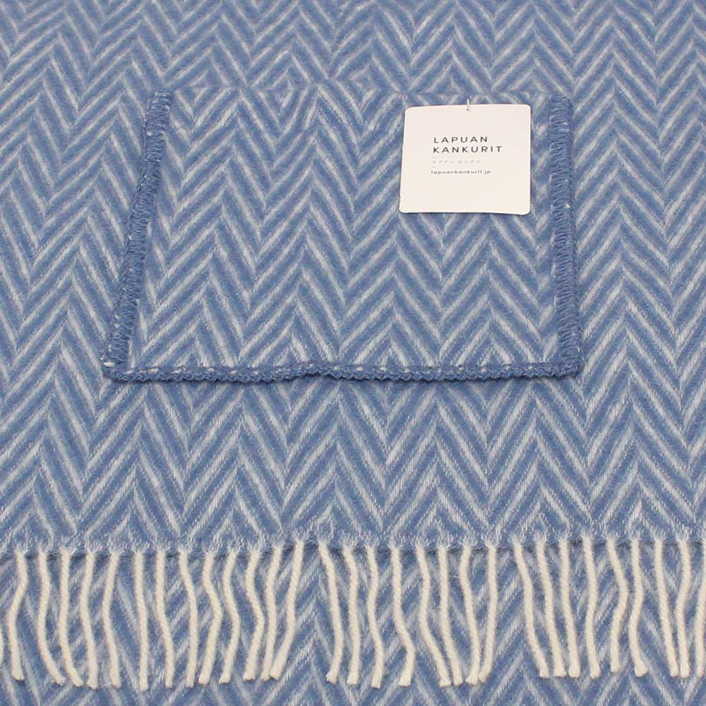 Lapuan Kankurit (ラプアン・カンクリ) - IIDA / Pocket Shawl (ショール) (Blue/White)