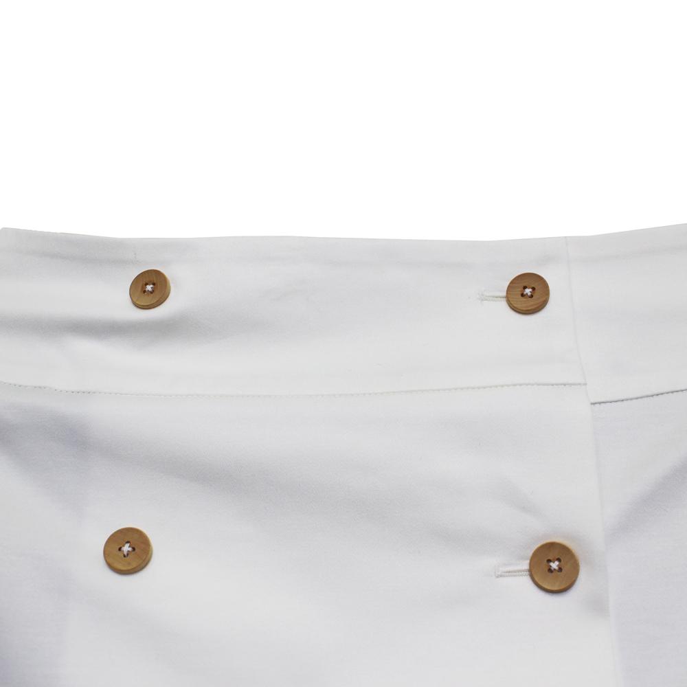 ensemble dessinee (アンサンブル・デシネ) - Cotton Wrap Skirt  (巻きスカート) (White)