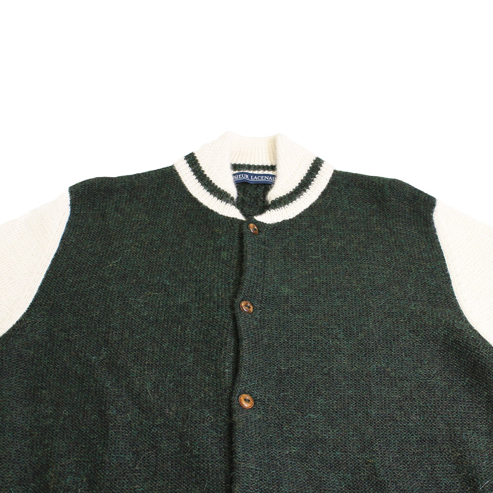 Monsieur Lacenaire (ムッシュー・ラスネール) - Teddy Alpaca (ニットカーディガン) (Green)
