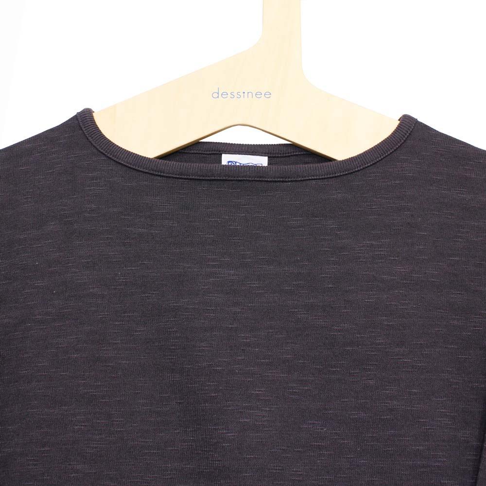 Tieasy AUTHENTIC CLASSIC (ティージー) - HDCS Boatneck Basque Shirt (バスクシャツ) (Dark Purple)