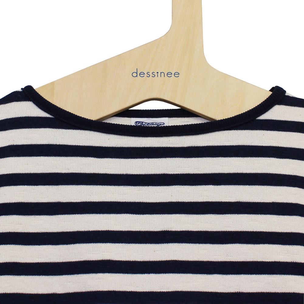 Tieasy AUTHENTIC CLASSIC (ティージー) - HDCS Boatneck S/S Basque Shirt (半袖バスクシャツ) (Natural/Navy)