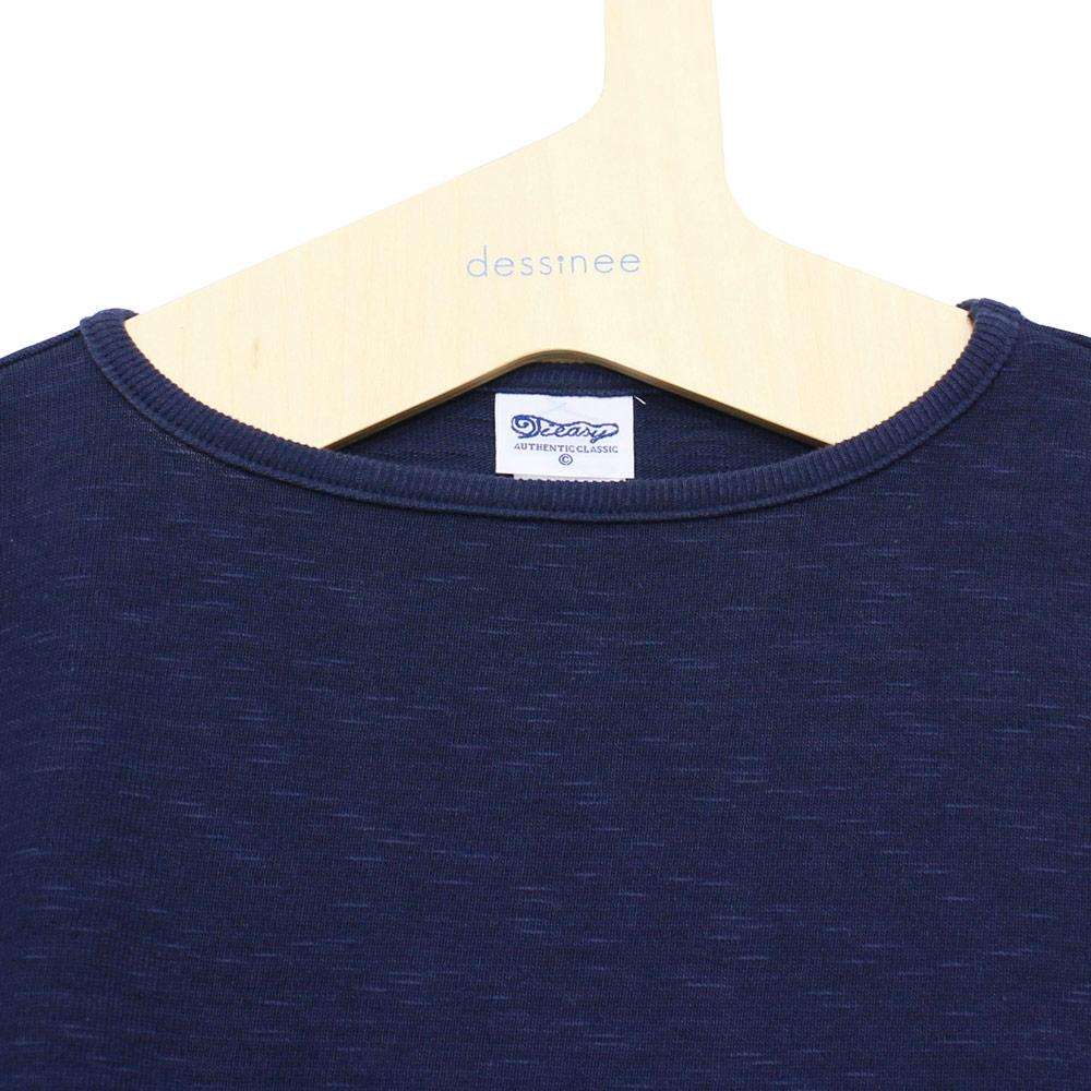 Tieasy AUTHENTIC CLASSIC (ティージー) - HDCS Boatneck S/S Basque Shirt (半袖バスクシャツ) (Navy)