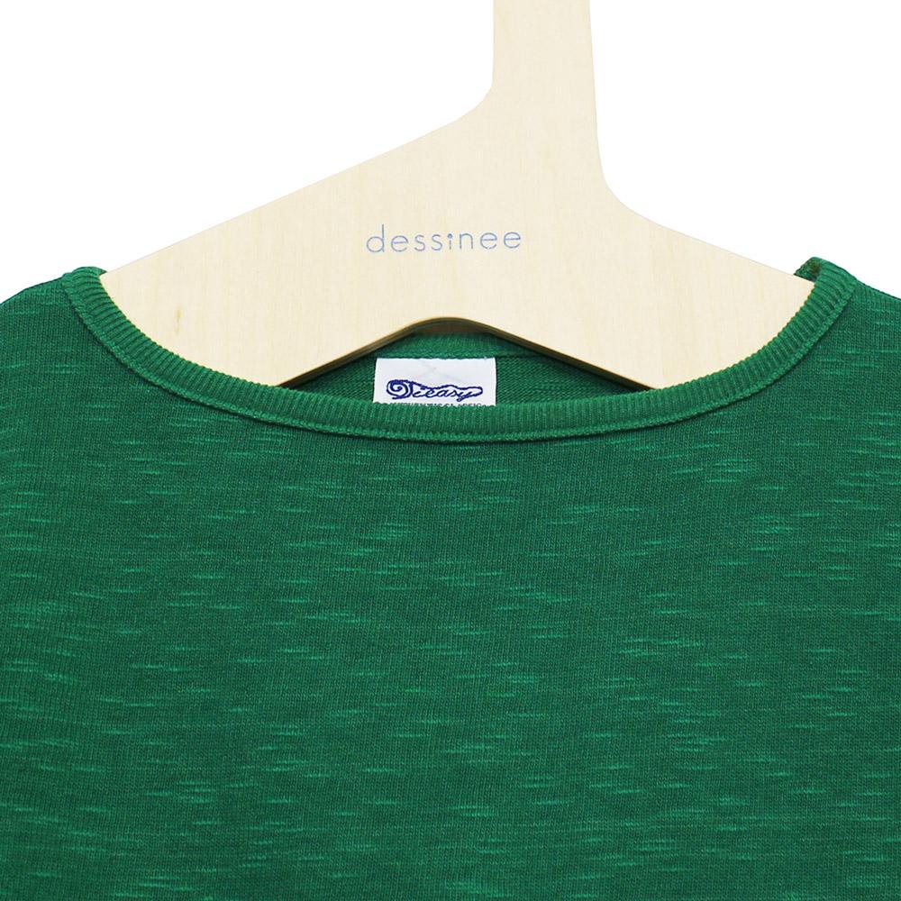 Tieasy AUTHENTIC CLASSIC (ティージー) - HDCS Boatneck S/S Basque Shirt (半袖バスクシャツ) (Reef Green)