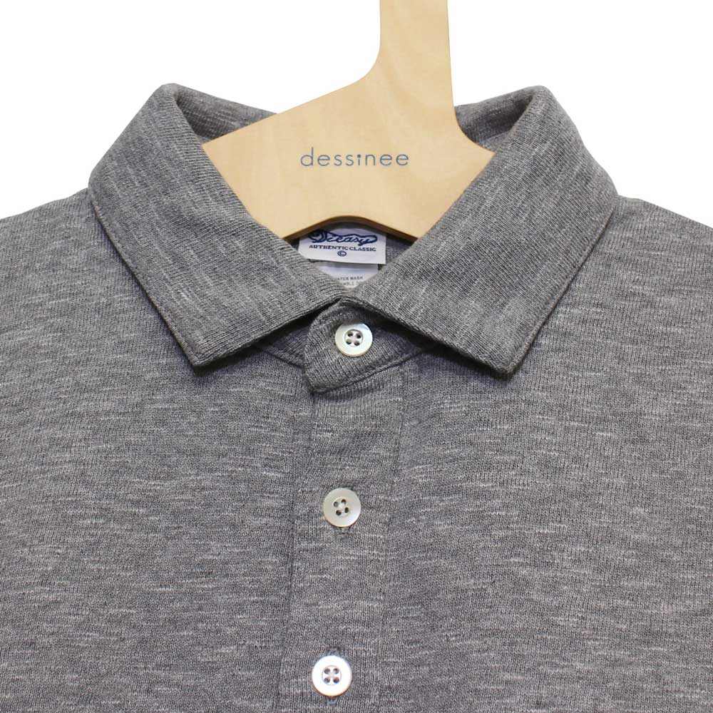 Tieasy AUTHENTIC CLASSIC (ティージー) - Tieasy HDCS Polo (ポロシャツ) (Mix Grey)