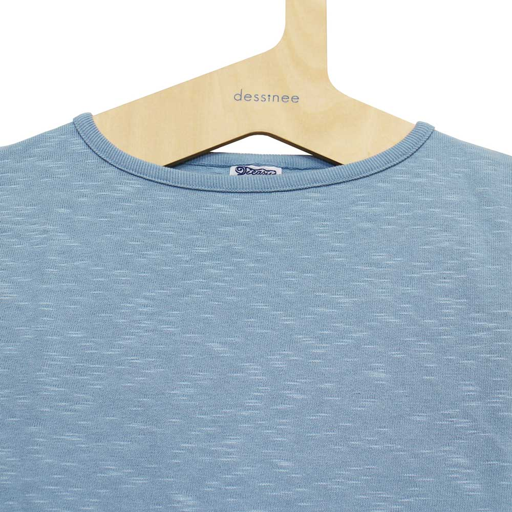 Tieasy AUTHENTIC CLASSIC (ティージー) - HDCS Boatneck S/S Basque Shirt (半袖バスクシャツ) (Powder Blue)