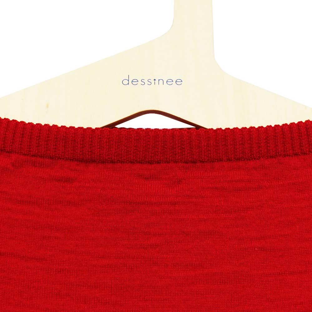 FILEUSE D'ARVOR (フィルーズ・ダルボー) - Wool Tristan (長袖ニット) (Rouge)